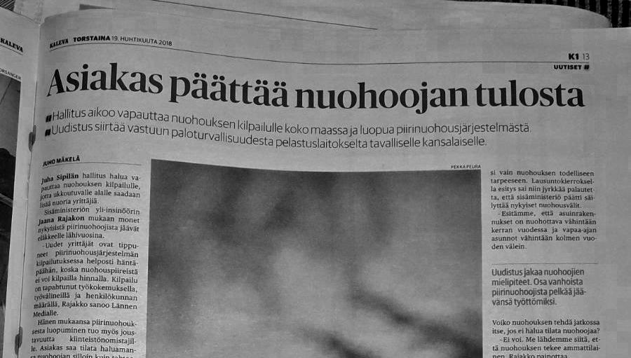 Paikallislehdet kirjoittavat nuohouksen vapautumisesta